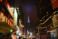 New York. New Empire State Building at night Royalty Free Stock Photography