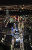 New York from Empire State Building by night, USA Royalty Free Stock Photo