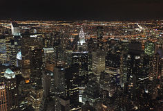 New York from Empire State Building by night, USA Stock Image