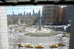 New York en Gele Taxis Stock Afbeelding