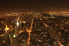 New York entro la notte Fotografia Stock