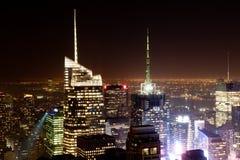 New York entro Night Fotografie Stock