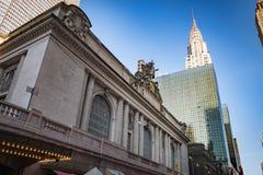 New York, estação de Grand Central com a construção de Chrysler no th imagem de stock