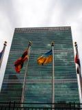 New York - Estados Unidos, a construção das matrizes dos United Nations em New York City imagem de stock royalty free
