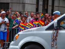 New York, Estados Unidos - pessoa na parada alegre de New York fotos de stock