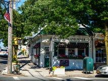 New York - Estados Unidos - rua da ilha da cidade em New York - Estados Unidos imagens de stock