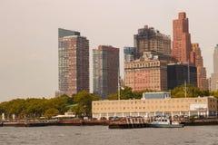 NEW YORK, Etats-Unis - 31 août 2018 : Jour nuageux à New York Vue d'horizon de Manhattan dans NYC photo stock