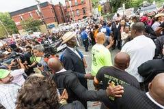 NEW YORK, ETATS-UNIS - 23 AOÛT 2014 : Marche de milliers en Staten Islan Images libres de droits
