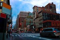 NEW YORK, Etats-Unis - 31 août 2018 : Rue de New York City Manhattan au Midtown au jour ensoleillé photos libres de droits