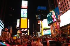 NEW YORK, Etats-Unis - 31 août 2018 : Rues de New York City, Broadway, Times Square photos libres de droits