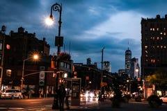NEW YORK, Etats-Unis - 30 août 2018 : Vue de Manhattan la nuit, New York City photos libres de droits