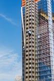 NEW YORK, ETATS-UNIS - 22 JUIN 2017 : Bâtiment avec des grues, Midtown Manhattan, New York City, Etats-Unis Images stock