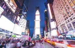 New York, Etats-Unis, 09-03-17 : longue exposition de squre célèbre de temps au Ni Images libres de droits