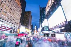 New York, Etats-Unis, 09-03-17 : longue exposition de squre célèbre de temps au Ni Image stock