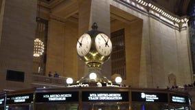 NEW YORK, ETATS-UNIS - 5 MAI 2019 : Gare ferroviaire de Grand Central banque de vidéos