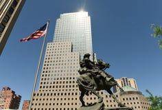 New York, Etats-Unis - 24 mai 2018 : Monument de réponse de l'Amérique dans la bibliothèque images stock