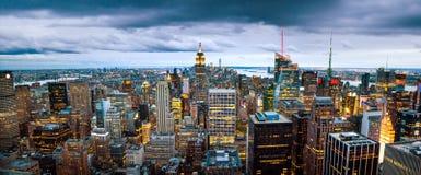 NEW YORK, Etats-Unis - 8 mai 2017 : WI de vue panoramique d'horizon de Manhattan images stock