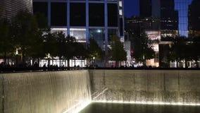 New York, Etats-Unis - 20 octobre 2018 : Nouveau Yorks 9/11 mémorial banque de vidéos