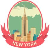 New York etikett Arkivfoton