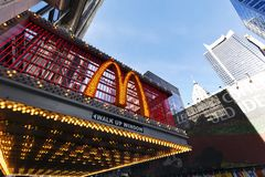 McDonald's na 42nd rua New York Fotos de Stock Royalty Free