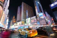 NEW YORK, EUA - 12 DE ABRIL: A arquitetura dos tempos famosos S Fotografia de Stock Royalty Free