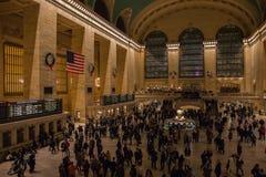 New York, EUA - 3 de janeiro de 2019 Terminal central grande Interior para dentro foto de stock