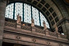 NEW YORK, EUA - 13 DE JULHO DE 2016: interior da biblioteca da Universidade de Columbia foto de stock royalty free