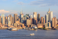 New York, EUA 20 de maio de 2014 Ideia da cidade da skyline de New York City Imagens de Stock