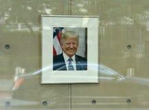 New York, EUA - 26 de maio de 2018: Retrato de Donald Trump no U fotos de stock royalty free