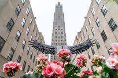 NEW YORK, EUA - 5 DE MAIO DE 2018: Rockefeller Center em NYC fotos de stock