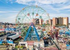 NEW YORK, EUA - 26 DE SETEMBRO DE 2017: Roda da maravilha no Coney Island imagens de stock