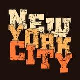 New York för diagram för T-skjortatypografi idrotts- stil NYC vektor illustrationer