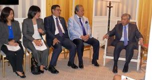 NEW YORK FÖRENTA STATERNA - AUGUSTI 24TH, 2016 Ahmad Zahid Hamidi ställföreträdande Prime Minister av Malaysia Royaltyfri Foto