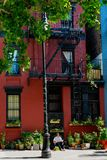 New York - Facade in Greenwich village Stock Images
