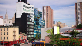 New york famous high line park view 4k time lapse stock footage