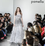 New York Fashion Week FW 2017 - Pamella Roland Collection Stock Images