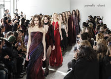 New York Fashion Week FW 2017 - Pamella Roland Collection Royalty Free Stock Photo