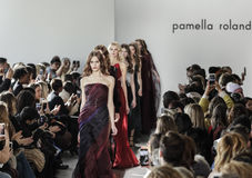 New York Fashion Week FW 2017 - Pamella Roland Collection Royalty Free Stock Photography