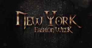 New York Fashionweek Fantasy Title Design