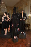 NEW YORK - FEBRUARY 06: Models pose at static presentation for Russian Fashion Industry Reception F/W 2013 Stock Photography
