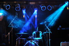 NEW YORK- FEBRUARY 27: Stage setup during Russian Rock Festival at Webster Hal stock photos
