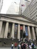 New York Federaal Hall Georgo Washington Statue stock afbeelding