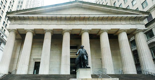 New York Federal Hall. Picture of the facade of NY Federal Hall Stock Images