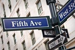 New York femte aveny Arkivbilder