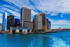 New York ferry terminal on Manhattan Royalty Free Stock Image