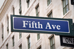New York Fifth Avenue Stockfotos