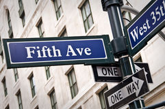 New York Fifth avenue Stock Images
