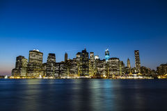 New York financial district Royalty Free Stock Images