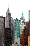 New York Financial District Skyline Stock Photography