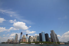 New York finansiellt område Arkivfoton